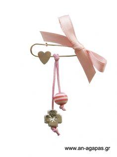 Μαρτυρικό παραμάνα καρδιά χάντρα ροζ   an-agapas.gr