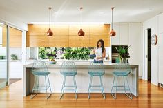 The Kitchen of Lauren and Matt Wilson's Geelong home for Open for Inspection with Inside Out magazine via We-Are-Scout.com.