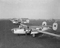 RAF Coastal Command Liberators of 120 and 86 Sqn at RAF Aldergrove, N Ireland c1943