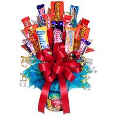 candy arrangement ideas   Nuts To You Candy Bouquet - Unique Candy Bouquet