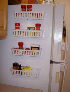 Homemade Storage Solutions-Magnetic Baskets! ... Shift+R improves the quality of this image. Shift+A improves the quality of all images on this page.
