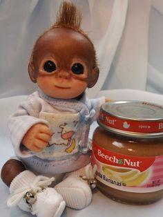 OOAK Baby Orangutan Monkey Boy Sculpted Polymer Clay Art Doll Teddy Bear #BreathofHeaven