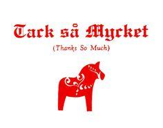 Thanks in Swedish