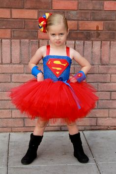 Super girl superhero tutu dress and costume. $59.00, via Etsy.