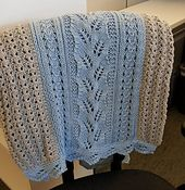 Ravelry: Fern Lace Baby Blanket pattern by Cathy Dages