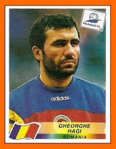 Gheorghe Hagi of Romania. 1998 World Cup Finals card. Uefa Football, Sport Football, Football Players, Football Stickers, Football Cards, Fifa World Cup France, America Album, 1998 World Cup, Association Football