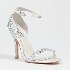 Crystal bling shoes for wedding day. ALBA by BENJAMIN ADAMS 4.25 inches $299