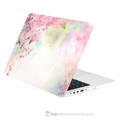 "TOP CASE - Vibrant Summer Series Graphic Matte Hard Case for Macbook Retina 15"" - Cherry Blossom"