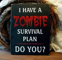 The topic of Zombies may not be (in anyone's mind) romantic...but when my man and I talked through our Zombie survival plan, I thought it was one of the most romantic things ever LOL!