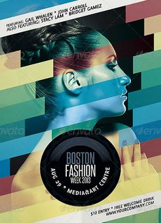 Minimalistic Electro and Fashion Event Flyer Template