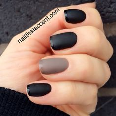 We're 'matte about you', edgy black French tip.
