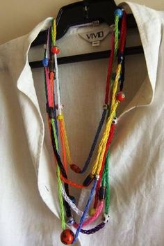 French/spool knitting necklace