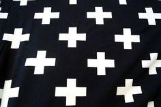 NB16 8434-69 Tricot plus zwart/off-white