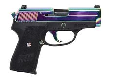 Sig Sauer P239 ~ LOVE the iridescent titanium finish on this larger pistol...who said guns can't be pretty? ;)