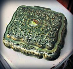 Vintage Jewelry/Keepsake Box by aBleuBoutique on Etsy