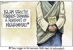 ISLAM = PEACE | Sep/5/14 Joe Heller - Green Bay Press-Gazette - ISIS Islam - English - isis, islam, Muhammad, behead, religion of peace, muslim