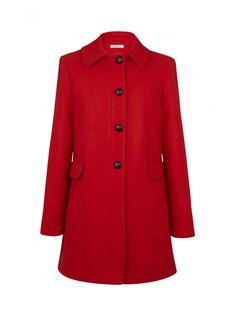 Naf naf nouvelle co h15 manteau droit boutonné paprika 1