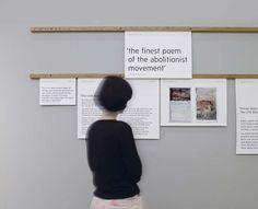 An exhibition display regarding William Blake's poem The Little Black Boy.