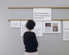 An exhibition display regarding William Blake's poem The Little Black Boy.