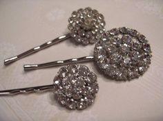 Vintage Rhinestone Hairpins