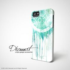 iPhone 6 case iPhone 5 case mint teal Dream catcher by Decouart, $23.99