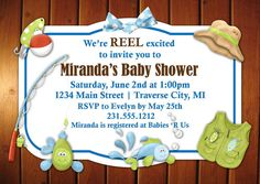 Perfect Fishing Baby Shower Invitation