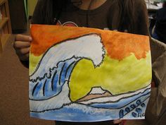 hokusai art lesson for kids | ART with Mrs. Smith: The Great Wave