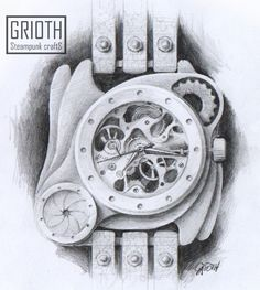 PROJECT- Poison I-VY by GRIOTH. Steampunk, industrial, Gothic Watch