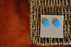 Handmade earrings dahlia flower cabochon by ATouchOfJewels on Etsy, $17.50