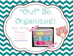 √ FREE Owl Be Organized- Owl Themed To Do Drawers