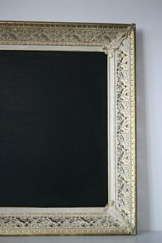 Turning an old frame into a chalk board