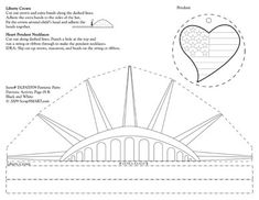 Liberty crown and patriotic heart activity for the Statue of Liberty's birthday in October.