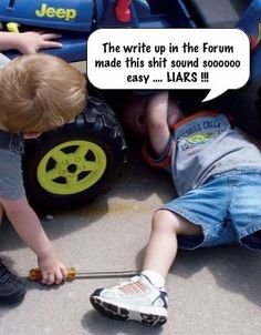 HAHAHAHA! I can picture my husband doing this as a child....lol