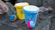 Pallo kuppiin -peli Bucket, Buckets, Aquarius