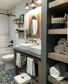 small bathroom storage ideas is unquestionably important for your home. Whether you choose the remodel a bathroom or bathroom remodel shiplap, you will make the best small bathroom storage ideas for your own life. Beautiful Bathrooms, Modern Bathroom, Small Bathroom, Master Bathroom, Bathroom Interior, Wooden Bathroom Vanity, Farmhouse Bathroom Sink, Italian Bathroom, Bronze Bathroom