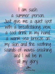 From days at the beach to nights under the stars, summer is the best time of year! Here are some cute and funny summer quotes to hold us over until summer. Motivacional Quotes, Great Quotes, Quotes To Live By, Inspirational Quotes, Beach Quotes And Sayings Inspiration, Pool Quotes, Peace Quotes, Change Quotes, Crush Quotes