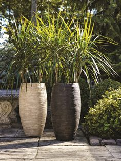 Sand Fiberglass Indoor/Outdoor Vase