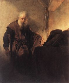 St. Paul at his Writing Desk, 1629-1630 by Rembrandt