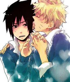 ah.. stop it.. maybe..   We Heart It #sasunaru #narusasu