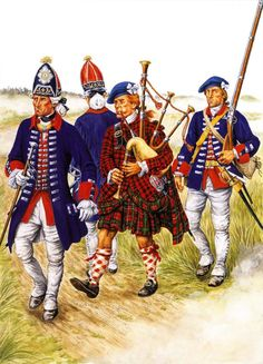 French Royal Ecossis troops, Seven Years War