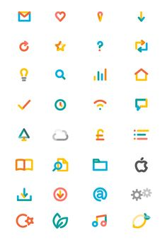 icons. joined by lines to represent connected internet of things... idea of assembling that future from various parts?