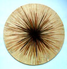 """""""Big bang"""" Wooden inlay, 2016 (90x90 cm)"""
