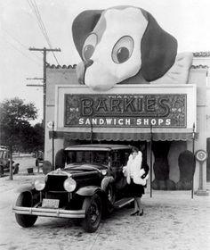 1929 : Barkies Sandwich shop, Hollywood