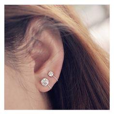 iTemer Men Stud Earrings Fashion Triangle Round Hollow Holes Design Titanium Steel Stud Black