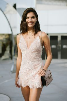 (style w/ tennis shoes; plain cropped wrap jacket) Street style at 2017 Cannes Film Festival: Sara Sampaio Sara Sampaio, Cannes Film Festival, Festival 2017, Bad Girls Club, Looks Street Style, Fashion Models, Fashion Tips, Women's Fashion, Lingerie Models
