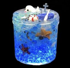 Excited to share the latest addition to my shop: Ocean Party Fishbowl Slime Charms Included Slime Popular Slime Shop Popular Slime Shops Cool Slime Best Slime Best Selling Slime S Diy Crafts Slime, Slime Craft, Popular Slime, Slimy Slime, Edible Slime, Mermaid Slime, Pretty Slime, Galaxy Slime, Slime And Squishy