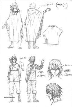The Last: Naruto the Movie - Sasuke - Sketch Design Sasuke Uchiha, Naruto Sharingan, Kakashi Sensei, Anime Naruto, Naruto Shippuden, Boruto, Sasunaru, Naruto Drawings, Naruto Sketch