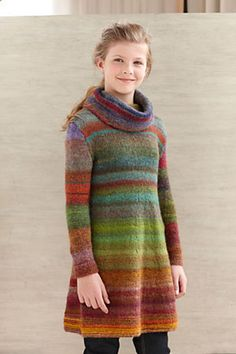 Ravelry: Color Stripe Tunic pattern by Lion Brand Yarn - free pattern
