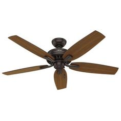 Hunter Newsome 52 in. Indoor/Outdoor Premier Bronze Ceiling Fan-53323 - The Home Depot