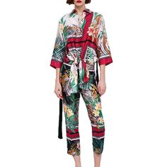 565904e3b24d 2018 two piece set summer casual printing womens clothing 2 piece set women  kimono set women